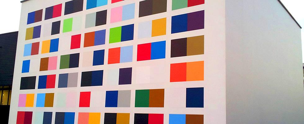 kleurvolle muur