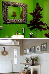 groene badkamer en rustiek interieur